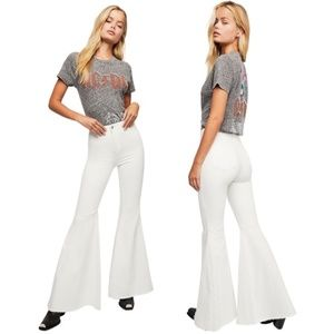 EUC Free People Just Float On Flare Jeans